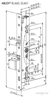 Abloy EL461 electric lock